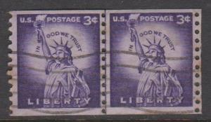 USA Sc#1057 Used Line Pair