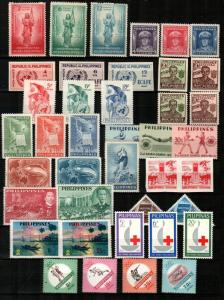 Philippines Scott 500 // 888 Mint NH sets (Catalog Value $60.85)