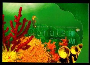 Hong Kong Canada 2002 Corals 2 M/S Souvenir Presentation Pack MNH
