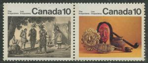 STAMP STATION PERTH Canada #580-581 Iroquoian Indians 1976 MNH Pair CV$0.60