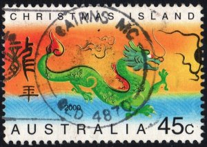 Christmas Island: SC#425 45¢ Chinese New Year: Year of the Dragon (2000) Used