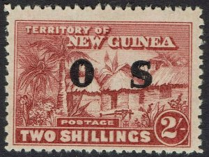 NEW GUINEA 1925 HUT OS 2/-