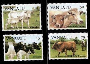 VANUATU Scott  373-376 Cattle stamp set