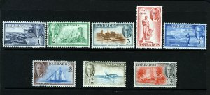 BARBADOS King George VI 1950 Part New Currency Set SG 271 to SG 278 MNH