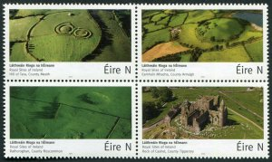 HERRICKSTAMP NEW ISSUES IRELAND Sc.# 2145a Royal Sites Block of 4