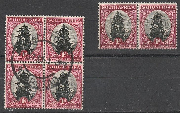#34 South Africa Used block & pair