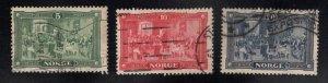 Norway Scott 96-98 Used set CV$13.50 Used 1914 Assembly set