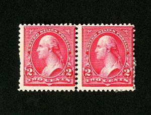 US Stamps # 266 Fresh OG LH + NH Pair Type 2 & 3 Catalog Value $220.00