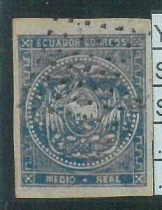 86992a - ECUADOR  - STAMP - Yvert & Tellier  # 1 - USED with great margins NICE!