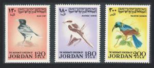 Jordan Shrike Chat Sunbird Birds 3v 1970 MNH SG#929-931