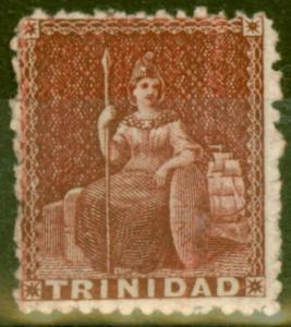 Trinidad 1863 Lake SG64 V.F Very Lightly Mtd Mint