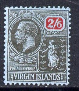 British Virgin Islands 1922-28 KG5 MCA 2s6d black & r...