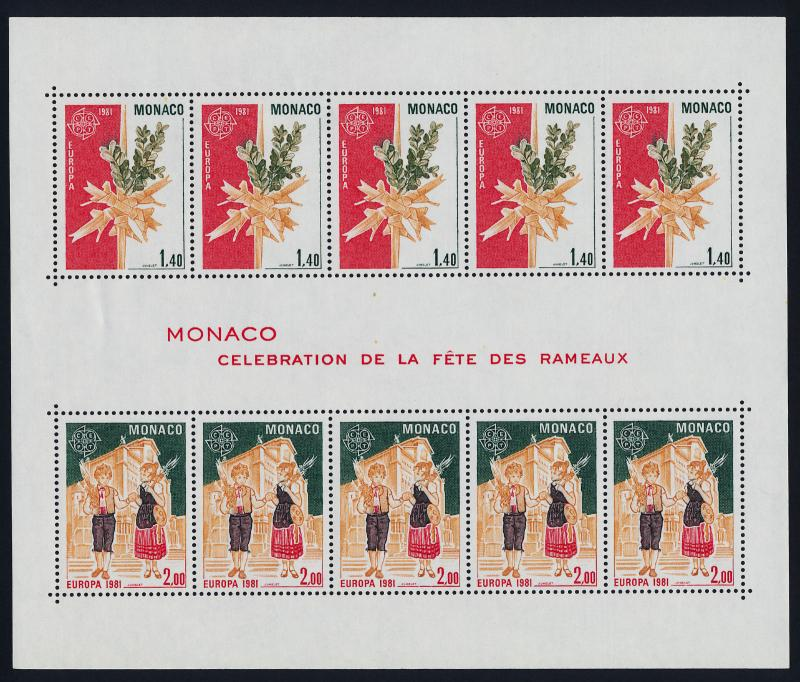 Monaco 1279a MNH Europa, Cross of Palms, Children with Palms