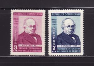 Dominican Republic 356-357 Set MHR Roland Hill (C)