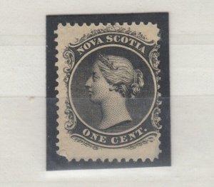 Nova Scotia QV 1860 1c Black MH JK363