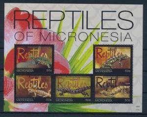 [34981] Micronesia 2011 Reptiles Turtle Gecko MNH Sheet
