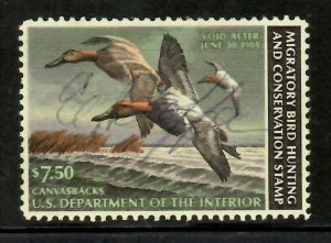 RW49 1982 Federal Duck Stamp Used Signed No Faults- EBAY LOW- OFFER?