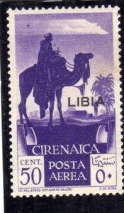 LIBIA 1936 AIR MAIL OVERPRINTED POSTA AEREA SOPRASTAMPATO DELLA CIRENAICA CEN...