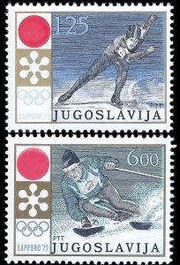 Yugoslavia 1972 Sc 1089-90 MNH vf Olympics-Sapporo '72