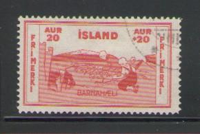 Iceland Sc B2 1933 Children Rock Plants stamp used