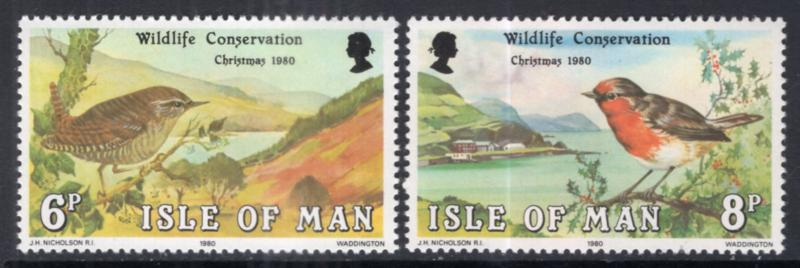Isle of Man 182-183 Birds MNH VF