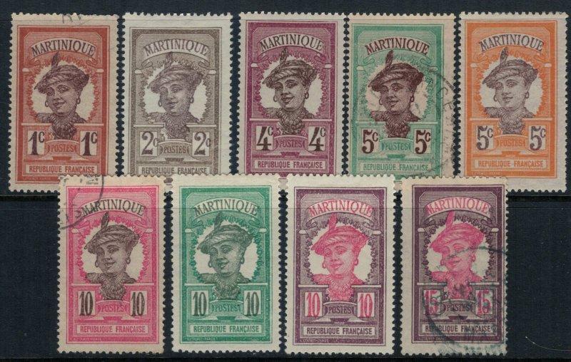 Martinique #62-70*/u  CV $3.75