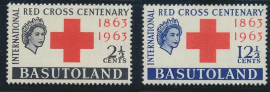Basutoland  SG 81  / 82  Mint  Hinged  Red Cross