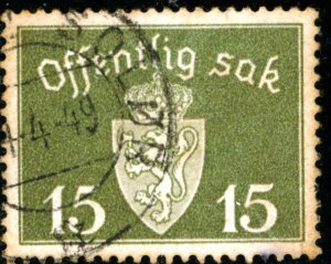 NORWAY #O36, USED - 1945 - NORWAY067NS13