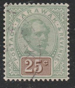 SARAWAK 1888 25c SG18 fine used - well centred - a nice example............65620