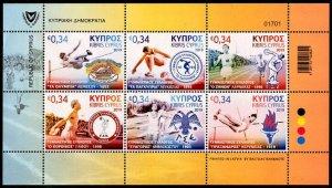 HERRICKSTAMP NEW ISSUES CYPRUS Athletic Assoc. Sheetlet