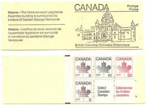 Canada - 1982 Maple Leaf Issue Nine Diff. Covers Booklets #BK82c - VF-NH