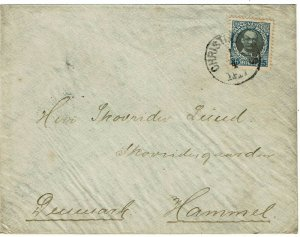 Danish West Indies 1911 Christiansted cancel on cover to Denmark