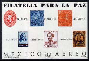 Mexico C434 Stamp On Stamp Souvenir Sheet MNH VF