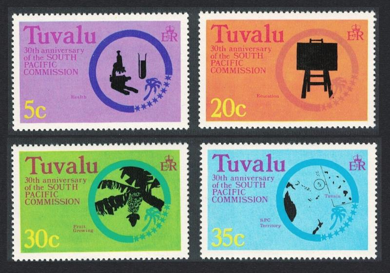 Tuvalu 30th Anniversary of South Pacific Commission 4v SG#54-57