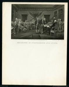 US Document Sheet 1776 Declaration of Independence