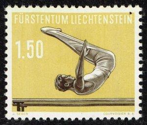 Liechtenstein Stamp 1957 Gymnastics MH/OG STAMP 1.50 FR