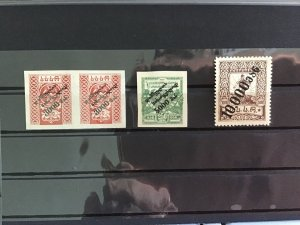 Georgia 1922-1923 surcharged mounted mint   stamps  R29811