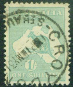 AUSTRALIA  Scott 98 Kangaroo p11.5x12 wmk 203 1929