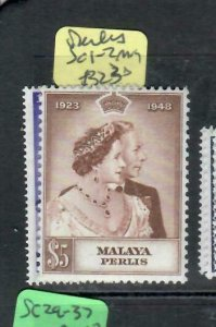 MALAYA  PERLIS   (PP1606B) KGVI SILVER  WEDDING SG 1-2   MOG