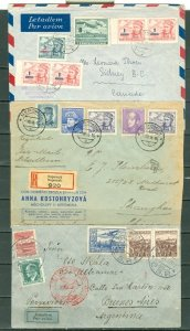 CZECHOSLOAVAKIA LOT of (3) EARLY COVERS incl. (2) REGISTERED