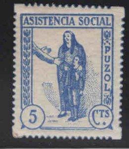 SPAIN Civil War Republic Puzol Civil war tax Label GG 1132 MNH**