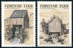 HERRICKSTAMP NEW ISSUES FAROE ISLAND Sc.# 731-32 Watermill
