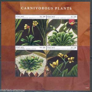 PALAU 2012 CARNIVEROUS PLANTS  SHEET   MINT  NH