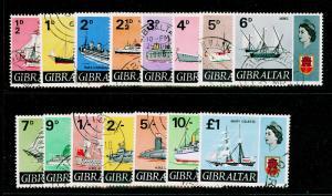 GIBRALTAR SG200-213, COMPLETE SET, FINE USED, CDS. Cat £50.