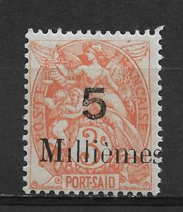 French Offices-Port Said 1921 Scott # 37,VF Mint lightly Hinged*OG (FC-6)