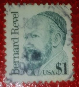 USA 2193 – 1986 $1 Great Americans- Bernard Revel used XF