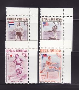 Dominican Republic 474-476, 478 MNH Sports, Olympics (A)
