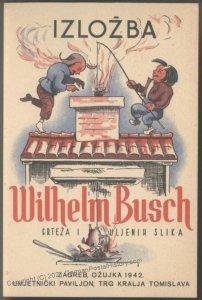 Croatia 1942 WWII Wilhelm Busch Croatian Advertising Cover 102199
