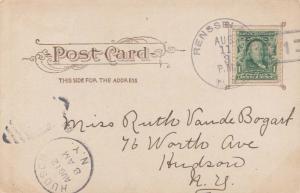 United States New York Rensselaer 1906 doane 3/1  PC.