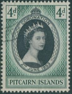 Pitcairn Islands 1957 SG17 4d QEII Coronation FU